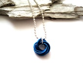 Royal Blue Mobius Chainmaille Necklace - Mobius Ball - Chainmaille Necklace - Chainmaille Jewelry - Made in Canada - Chainmail