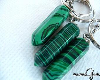 Keychains, key chains, keychain, key chain, malachite, malachite pendulum, green malachite key chains, hexagonal pendulum, money amulet,