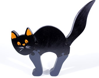 Black Cat Halloween Decor, Puzzle and Halloween Gift