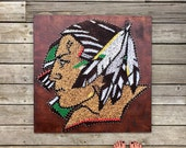Fighting Sioux Logo String & Nail Art