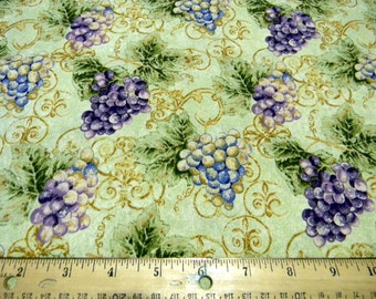 Tossed Grapes from the Vineyard Collection premium cotton fabric by Robert Kaufman - wine tasting, grapes