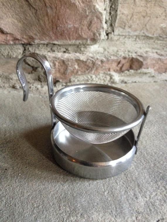 Vintage Metal Teabag Stand Strainer Loose Tea Bag Holder