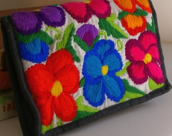 Vintage Hippy Flower Clutch Bag