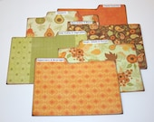Recipe Dividers, Strong Divider Cards, Autumn Recipe Tabs, Set of 6, 4x6 Recipe Divider Cards, Kitchen Organizers