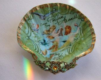 Jewelry Dish, French Mermaids Shell Jewelry Dish