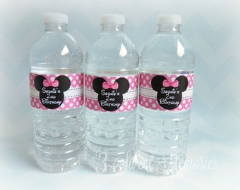 Minnie Mouse Bottle Labels- Ready to Ship!