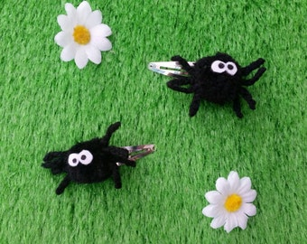 Spider hair clips (1 pair) by Sausage Cats