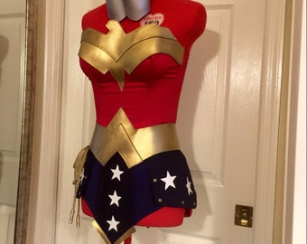 Wonder Woman Costume  Warrior skirt Custom Made Sizes XS-M