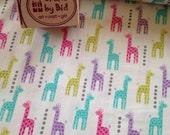 Michael Miller 'Mini Giraffes' 100% cotton fabric