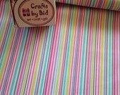 Michael Miller 'Slender Stripe' pink 100% cotton fabric