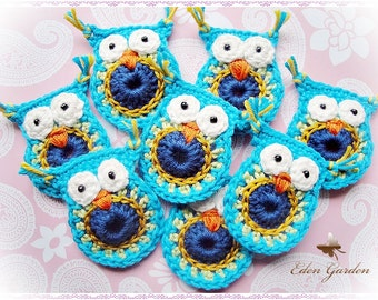 Set of 8 Lisa Crochet Owls
