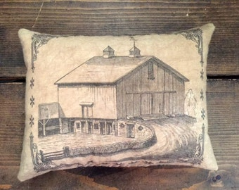 Vintage Barn Feed Sack Pillow