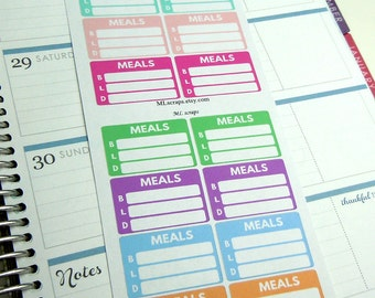 Daily Meal Stickers-Pastels Set of 16