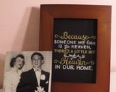 "Custom Chalk Art - ""Heaven in Our Home"" Quote"