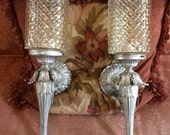 Hollywood Regency Neoclassical Sconces Pair  Fabulous