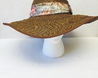 Brown Wide Brimmed Hat Floppy Sun Gardening