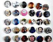 Buy 5 Get 1 FREE--Comic Pin Back Buttons Featuring Star Wars