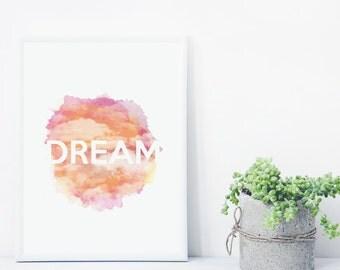 Dream Watercolour Print - Sunset