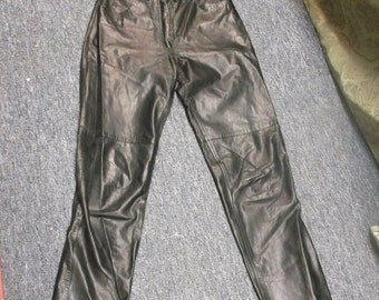 Toffs Black Leather Pants