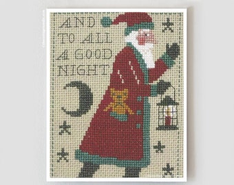 2015 Schooler Santa : Prairie Schooler cross stitch pattern Christmas December Santa Claus hand embroidery