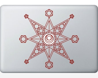 Metatron Star Laptop Decal | vinyl sticker | Sacred Geometry | Rainbow Holographic