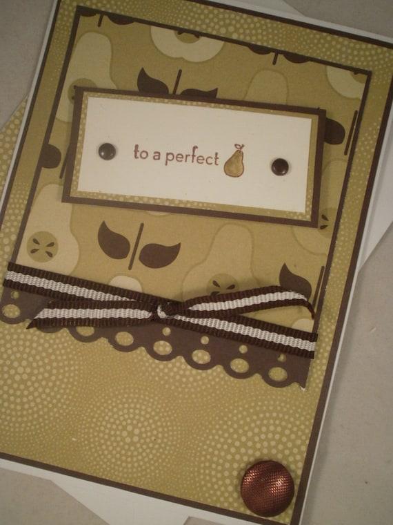 Handmade Anniversary Card, Perfect Pear, Perfect Pair, Anniversary, Happy Anniversary