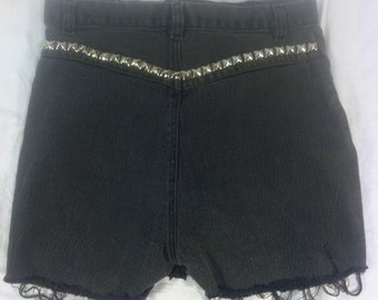SALE---50% OFF---VTG America Denim Studded Cut Offs