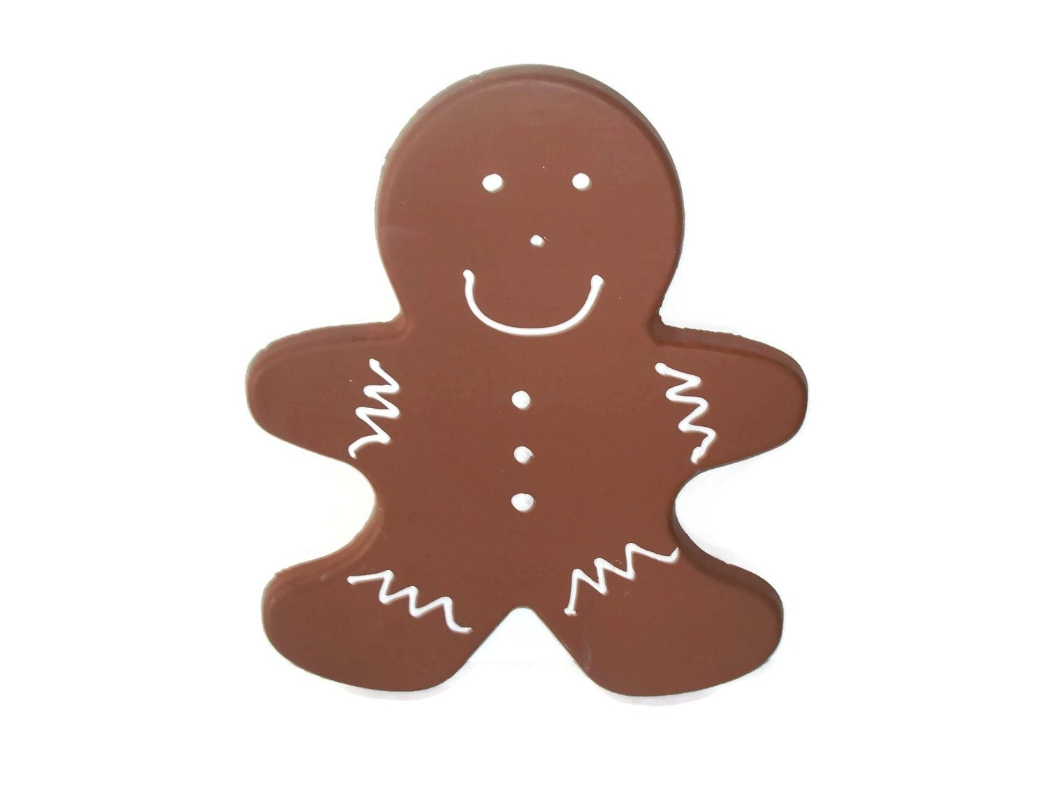 Giant Fake Gingerbread Man Cookie for Christmas Photo Props, Holiday Decorations and Display, Secret Santa Gifts