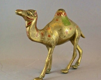 Antique  Brass Camel Figurine - East Indian Sculpture - Made in India - vintage  No.002045