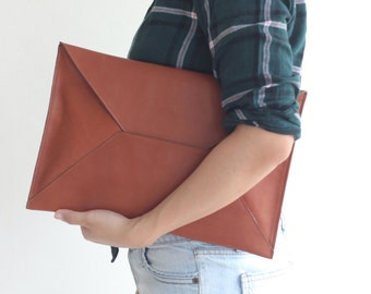 Leather Envelope Clutch Document Holder. Envelope Clutch. Document Organizer. Document Holder. Men Clutch. Men Work Bag