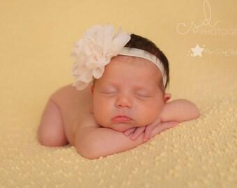 Infant headband, ivory headband, baby elastic headband, cream headband, baby headband, newborn headband, headband, baby girl, newborn girl