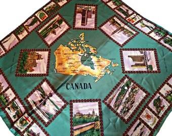 Vintage Scarf Souvenir Scarf Canada   C16