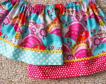 Michael Miller Happy Hills  Skirt (12 mos, 18 mos, 24 mos, 2T, 3T, 4T, 5T, 6, 7)