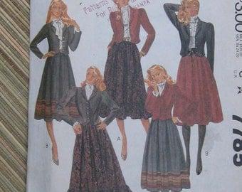 McCalls Skirt/ Cropped Jacket Pattern 7785 size 12