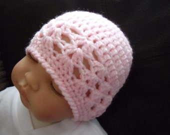 PDF crochet pattern.  Newborn Reborn crochet hat