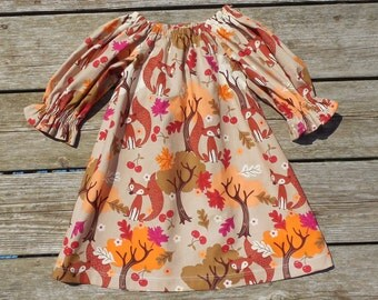 Fall 2015 Girl's Infants Toddlers Foxy Harvest Peasant Dress
