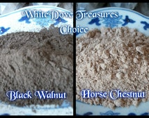 BLACK WALNUT Horse Chestnut Hull POWDER 1oz Dried Herb Holistic Home Therapy Natural Dye Luck Money Wishes Wicca Pagan Spell Craft Additive