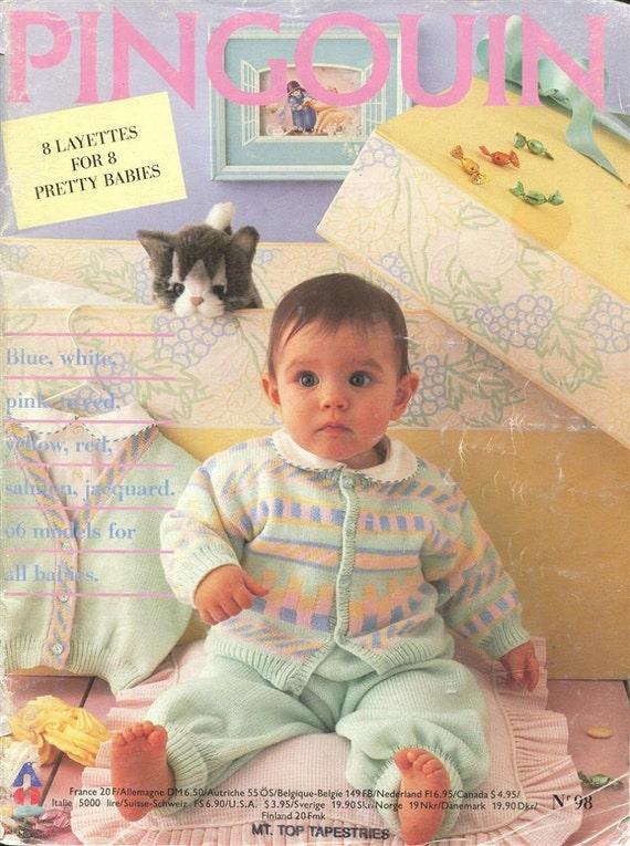 European Knitting Patterns : Pingouin European Knitting Pattern Magazine Pingouin 8