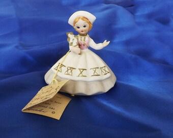 Vintage Josef Original Figurine Doll, Josef Little International Figurine, Vintage Decor, Sweden Figurine, Vintage Collectible