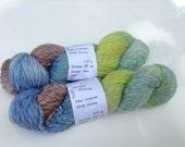 "Clearance - Handpainted Yarn, Worsted Twisty Merino ""Atlantis"", 3.5 oz"