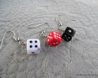 """Removable Stitchmarkers, set of 3, """"dice"""",  up to 6.5 mm needles"""