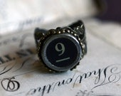 Old Typewriter Key Ring