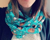 My Neighbor Totoro Infinity Scarf - Ghibli anime pattern geeky polyester outerwear