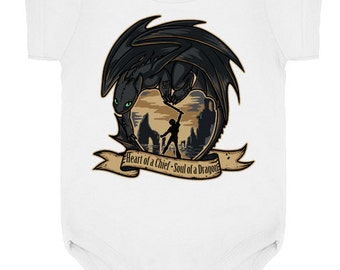 YOUTH ONESIE TODDLER -- Toothless Hiccup Heart of a Chief, Soul of a Dragon - How To Train Your Dragon 2