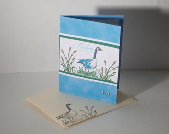 Goose In The WetLands Themed Handmade Decorative 3D Greeting Card For All Occasions (8 Greeting Options Available)