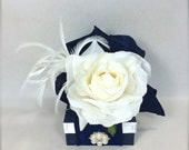 Vintage Jewelry Gift Box Navy Blue Gift Box Wedding Jewelry Gift Cards Mothers Day, Christmas, Bridesmaids, Handmade, Decorative Boxes,