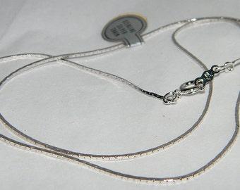 Fine Cobra Sterling Silver Chain Necklace