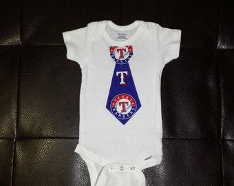Texas Rangers Tie Onesie