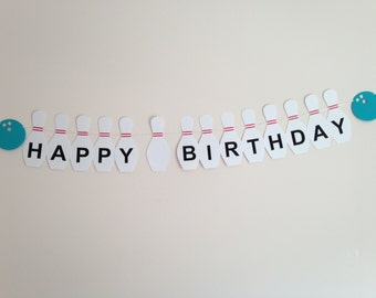 Bowling Party Happy Birthday Banner