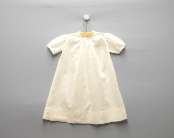 Vintage Baby Clothes, 1940's White Cotton Lace Baby Girl Christening Gown, Vintage Baby Christening Gown, Size 6 Months